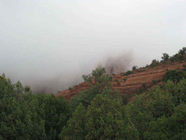 Clouds Covering the Red Rocks