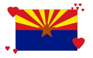 Arizona Flag with Hearts