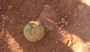Ball left on trail