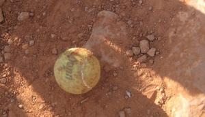 Ball left on trail