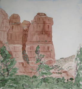 Painting of Coffee Pot Rock