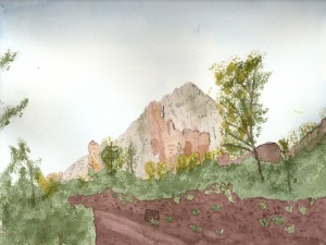 Painting of Thunder Mountain