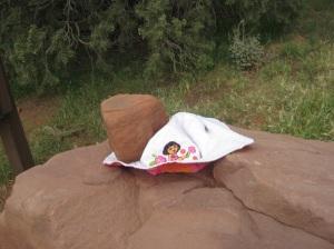 Hat on a rock