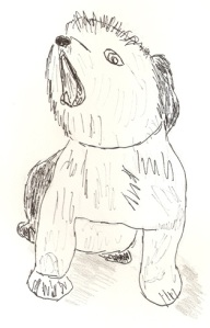 Drawing of Little Dog Barking