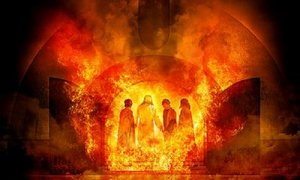 Shadrach, Meshach, and Abednego, and ? in the blazing furnace