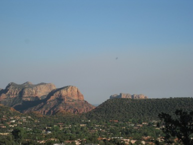 Smoky Red Rocks