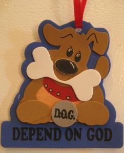 Depend on God dog craft