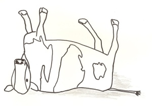 Drawing of a dead cow