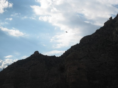 Helicopter Flying Away
