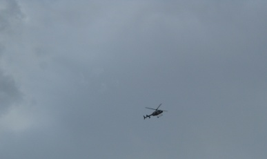 Helicopter Flying Back
