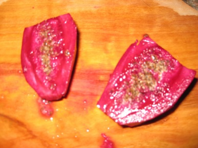 Cut Prickly Pear Fruit