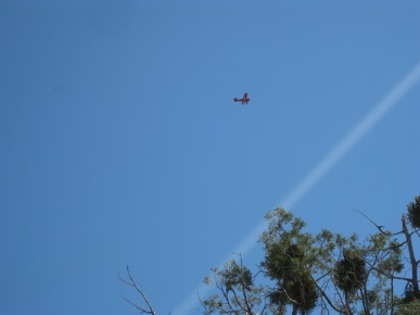 Biplane and Contrail