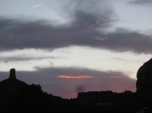 Sedona Sunset with Jet Trail
