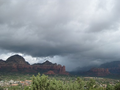 Sedona Under Clouds