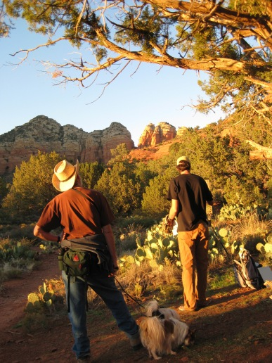 Artist Painting - Great Sedona Background - Dogs Lost Interest
