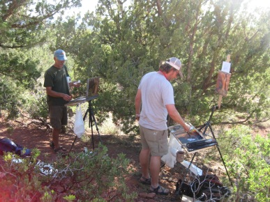 Artists doing Plein Air Painting