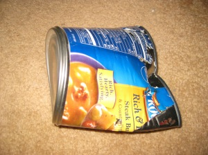 Squashed Soup Can