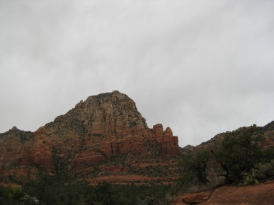 Thunder Mountain and gray skies
