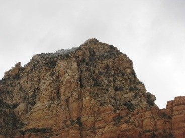Thunder Mountain with a little snow on top