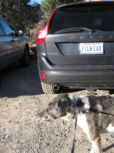 Bongo and a license plate that says Film Car