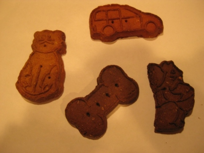Different shaped dog cookies