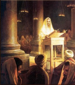 Jesus reading Scriptures in the Synagogue at Nazareth