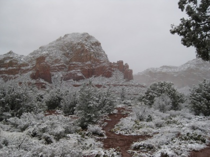 Thunder Mountain in snow