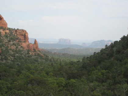 Cathedral and Bell Rock from Fay Canyon