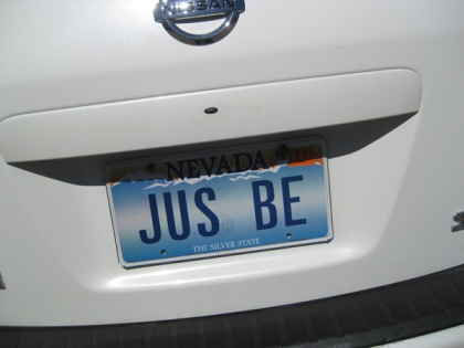 License plate JUS BE