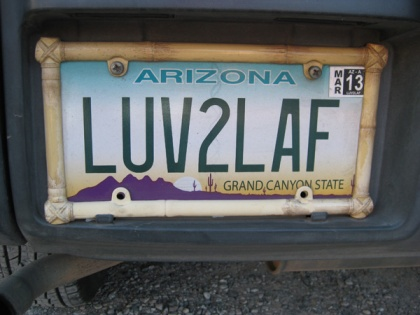License plate LUV2LAF