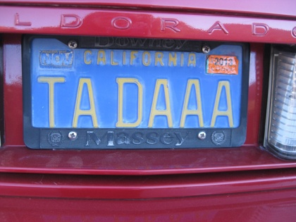 License plate TADAAA