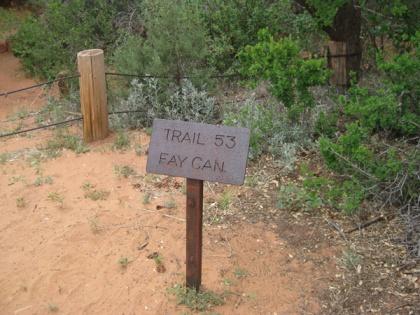 Fay Canyon Trail Sign