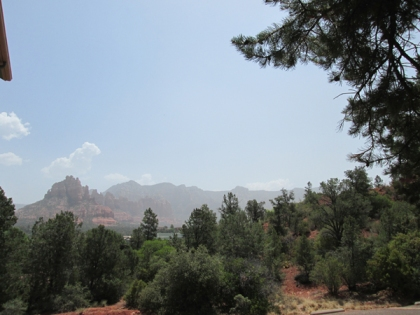 Sedona Red Rocks in smoky haze