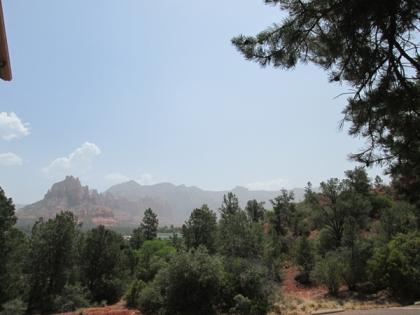 Sedona Red Rocks in smoky haze