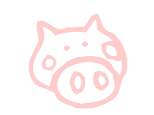pig head drawing