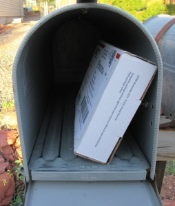 Small package in a mailbox