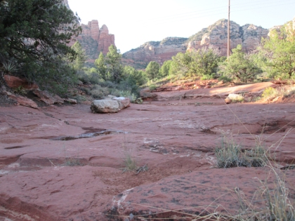 red rock clearing
