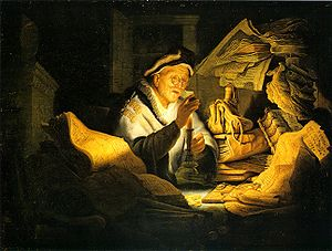 The Parable of the Rich Fool by Rembrandt - photo credit Wikipedia