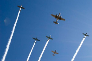 planes flying over