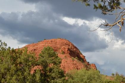 Sugarloaf and dark clouds