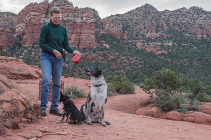 Bongo, Pablo, and Pablo's person on Bell Rock