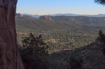 View of Sedona from Keyhole Cave entrance