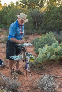Tom Lynch painting plein air