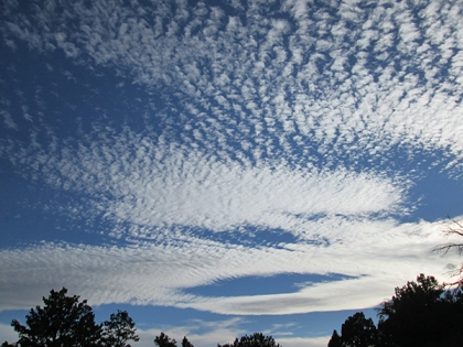 Windblown clouds
