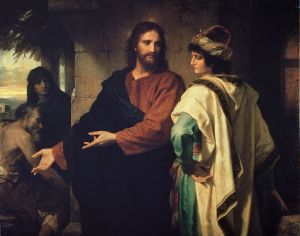 Christ and the Rich Young Ruler - Heinrich Hofmann (1824–1911)
