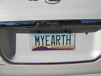 MYEARTH license plate