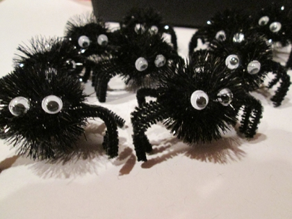 A bunch of google-eyed spiders