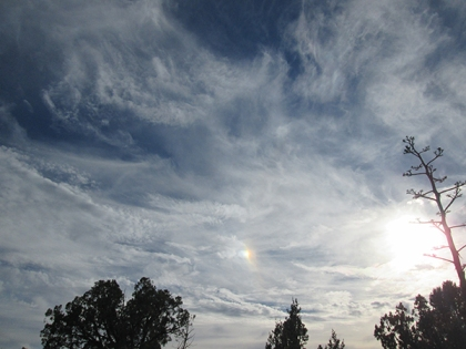 Clouds with sun dog