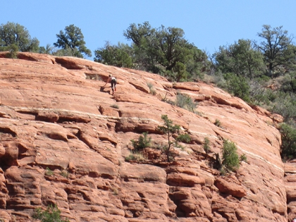 Person almost to the top of Sugarloar
