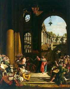 Bernardo Belloto - Jesus cleansing the temple